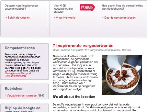 Reservations.nl geeft 7 tips voor inspirerende vergadertrends ManagementSupport.nl