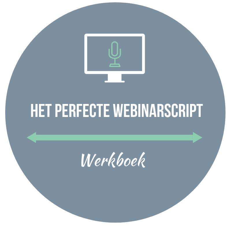 Het perfecte webinarscript werkboek voor winstgevende webinars